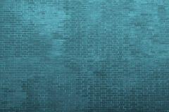 A textura de uma alvenaria em azuis celestes escuros tonifica Fotos de Stock Royalty Free