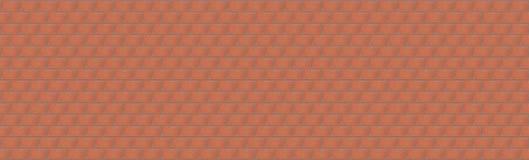 Textura de uma alvenaria larga vermelha um a série infinita de tijolos novos Foto de Stock Royalty Free
