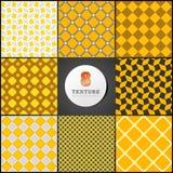Textura de uma caixa no amarelo Imagem de Stock Royalty Free
