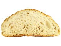 Textura de uma fatia de pão caseiro Fotografia de Stock Royalty Free