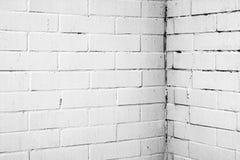 Textura de uma parede branca com tijolos Imagens de Stock Royalty Free