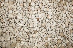 Textura de uma parede de pedra Fotos de Stock