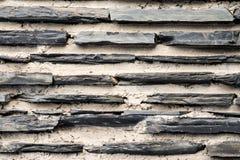 Textura de uma parede de pedra exterior Imagens de Stock