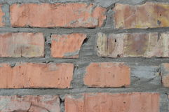 Textura de uma parede de tijolo Fotos de Stock