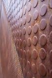 Textura de uma parede do metal Imagens de Stock