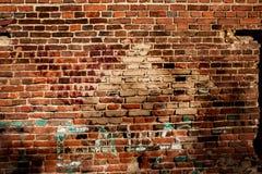 Textura de uma parede de tijolo vermelho velha imagens de stock royalty free