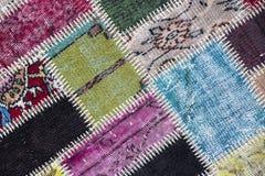 Textura de uma parte de tapete velho Imagem de Stock