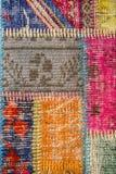 Textura de uma parte de tapete velho Fotografia de Stock Royalty Free