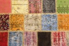 Textura de uma parte de tapete velho Imagens de Stock Royalty Free