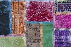 Textura de uma parte de tapete velho Fotografia de Stock