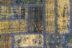Textura de uma parte de tapete velho Foto de Stock Royalty Free