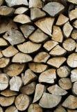 Textura de uma pilha da madeira do incêndio Imagens de Stock