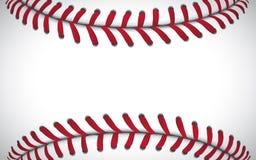 Textura de un béisbol, fondo del deporte, ejemplo del vector stock de ilustración
