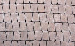 Textura de un camino de piedra pavimentado Imagenes de archivo
