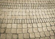 Textura de un camino de piedra pavimentado Imagen de archivo libre de regalías