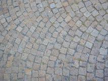 Textura de una calle de la piedra del adoquín Fotos de archivo libres de regalías