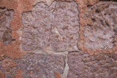 Textura de una pared de ladrillo vieja Imagen de archivo libre de regalías