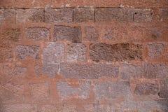 Textura de una pared de ladrillo vieja Imagen de archivo