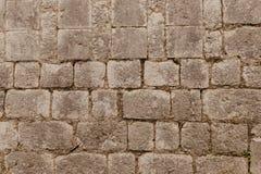 Textura de una pared de piedra Viejo fondo de la textura de la pared de piedra del castillo Pared de piedra como un fondo o textu foto de archivo libre de regalías