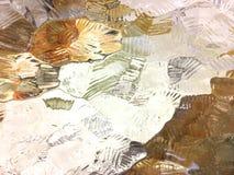 Textura de vidro abstrata no tom branco e dourado foto de stock