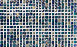Textura de vidro azul da telha da parede fotografia de stock royalty free