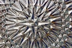 Textura de vidro com um teste padrão de produtos vidreiros transparentes Fotos de Stock Royalty Free
