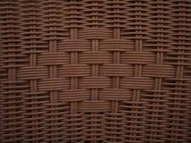 Textura de vime de Brown do Weave Fotografia de Stock