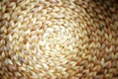 Textura de vime do bambu e do rattan do teste padrão do círculo Imagem de Stock Royalty Free
