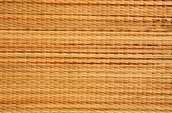 Textura de vime do matting de Brown Fotografia de Stock Royalty Free