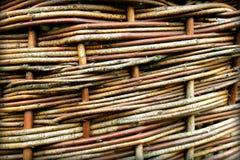 Textura de vime velha usada como um fundo Fotografia de Stock Royalty Free