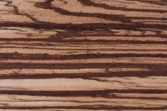 Textura de Zebrano, fondo de madera del grano Foto de archivo