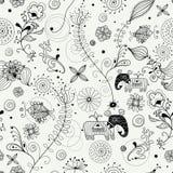 Textura decorativa con los animales Imagen de archivo libre de regalías