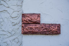 Textura decorativa de la fachada de la casa blanca Imágenes de archivo libres de regalías