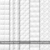 Textura decorativa de la teja Modelos inconsútiles del vector Imagen de archivo