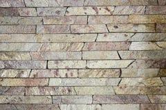 Textura decorativa de los ladrillos del travertino Fotografía de archivo