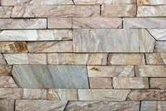 Textura decorativa de los ladrillos del travertino Foto de archivo