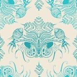 Textura decorativa de peixes e de planta de mar Foto de Stock
