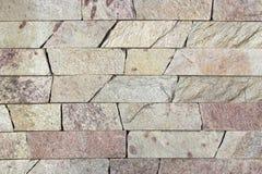 Textura decorativa dos tijolos do travertino Imagens de Stock