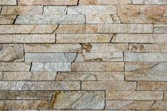 Textura decorativa dos tijolos do travertino Imagens de Stock Royalty Free