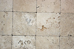 Textura decorativa dos tijolos do travertino Imagem de Stock Royalty Free