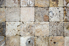 Textura decorativa dos tijolos do travertino Imagem de Stock