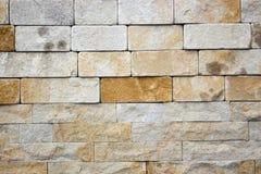 Textura decorativa dos tijolos do travertino Fotos de Stock