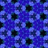 Textura del añil de la cadera color de rosa del mosaico del caleidoscopio Foto de archivo libre de regalías