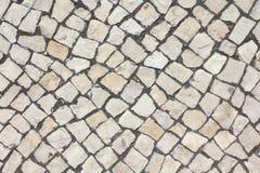 Textura del adoquín de la piedra caliza Imagen de archivo libre de regalías