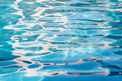 Textura del agua de la piscina Imágenes de archivo libres de regalías