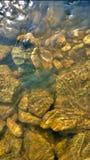 Textura del agua en roca Fotografía de archivo libre de regalías