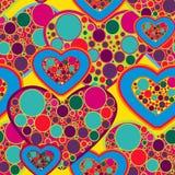 Textura del amor stock de ilustración