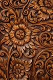 Textura del arte de la flor en la escultura de madera imagen de archivo libre de regalías