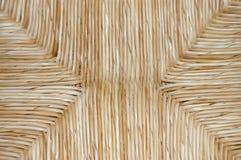 Textura del asiento de la paja Foto de archivo