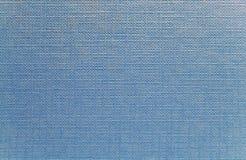 Textura del azul del dril de algodón Fotos de archivo libres de regalías
